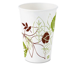 DIXIE FOOD SERVICE 12FPWS Pathways Polycoated Paper Cold Cups, 12oz, 1200/Carton by DIXIE FOOD SERVICE