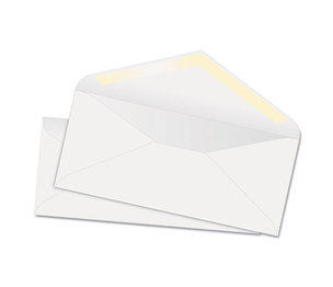 QUALITY PARK PRODUCTS 69007 White Wove Business Envelope Convenience Packs, V-Flap, #10, Recycled, 100/Box by QUALITY PARK PRODUCTS