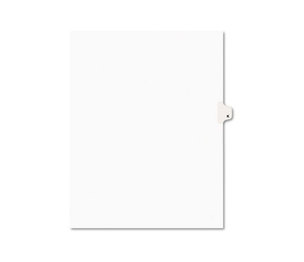 Avery 01411 Avery-Style Legal Side Tab Dividers, One-Tab, Title K, Letter, White, 25/Pack by AVERY-DENNISON
