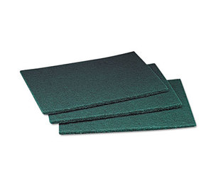 3M MCO 08293 Commercial Scouring Pad, 6 x 9, 60/Carton by 3M/COMMERCIAL TAPE DIV.