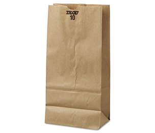 GENERAL SUPPLY BAG GK10-500 10# Paper Bag, 35lb Kraft, Brown, 6 5/16 x 4 3/16x 13 3/8, 500/Pack by GENERAL SUPPLY