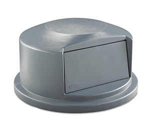 RUBBERMAID COMMERCIAL PROD. RCP 2647-88 GRA Round Brute Dome Top Receptacle, Push Door, 24 13/16 x 12 5/8, Gray by RUBBERMAID COMMERCIAL PROD.