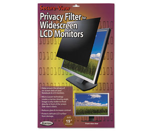 "Kantek, Inc SVL190W Secure View LCD Monitor Privacy Filter For 19"" Widescreen by KANTEK INC."