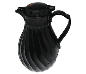 Hormel Foods Corporation 4022/64B Poly Lined Carafe, Swirl Design, 64oz Capacity, Black by HORMEL CORP