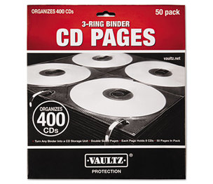 IdeaStream Consumer Products, LLC VZ01415 Two-Sided CD Refill Pages for Three-Ring Binder, 50/Pack by IDEASTREAM CONSUMER PRODUCTS