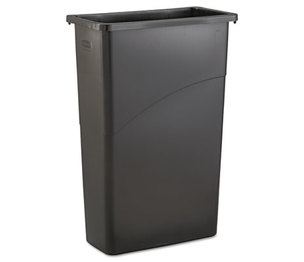 RUBBERMAID COMMERCIAL PROD. RCP 3540 BLA Slim Jim Waste Receptacle, Rectangular, Plastic, 23gal, Black by RUBBERMAID COMMERCIAL PROD.