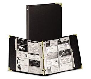 SAMSILL CORPORATION 81080 Vinyl Business Card Binder Holds 200 2 x 3 1/2 Cards, Ebony by SAMSILL CORPORATION