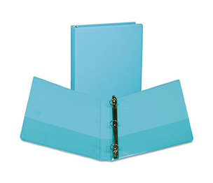 "SAMSILL CORPORATION U86377 Fashion View Binder, Round Ring, 11 x 8-1/2, 1"" Capacity, Turquoise, 2/Pack by SAMSILL CORPORATION"
