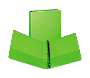 "SAMSILL CORPORATION U86378 Fashion View Binder, Round Ring, 11 x 8-1/2, 1"" Capacity, Lime, 2/Pack by SAMSILL CORPORATION"