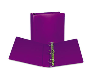 "SAMSILL CORPORATION U86608 Fashion View Binder, Round Ring, 11 x 8-1/2, 2"" Capacity, Purple, 2/Pack by SAMSILL CORPORATION"