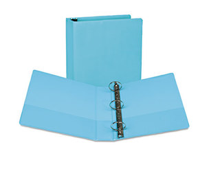 "SAMSILL CORPORATION U86677 Fashion View Binder, Round Ring, 11 x 8-1/2, 2"" Capacity, Turquoise, 2/Pack by SAMSILL CORPORATION"