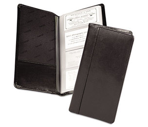 SAMSILL CORPORATION 81240 Regal Leather Business Card Binder Holds 96 2 x 3 1/2 Cards, Black by SAMSILL CORPORATION