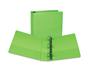 """SAMSILL CORPORATION U86678 Fashion View Binder, Round Ring, 11 x 8-1/2, 2"""" Capacity, Lime, 2/Pack by SAMSILL CORPORATION"""