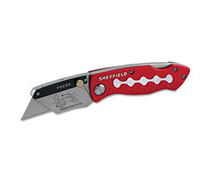 Great Neck Saw Manufacturers, Inc 58113 Sheffield Lockback Knife, 1 Utility Blade, Red by GREAT NECK SAW MFG.