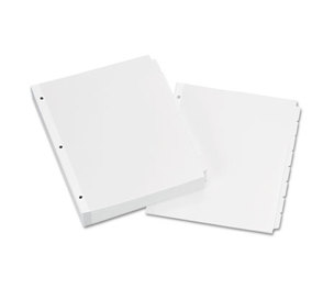 Avery 11507 Write-On Plain-Tab Dividers, 8-Tab, Letter, 24 Sets by AVERY-DENNISON