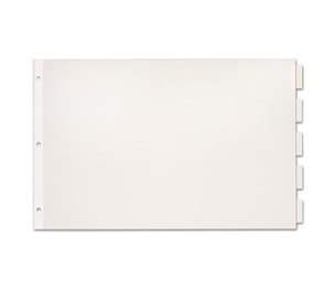 Cardinal Brands, Inc 84812 Paper Insertable Dividers, 5-Tab, 11 x 17, White Paper/Clear Tabs by CARDINAL BRANDS INC.