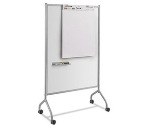 Safco Products 8511GR Impromptu Magnetic Whiteboard Collaboration Screen, 42w x 21 1/2d x 72h, Gray by SAFCO PRODUCTS