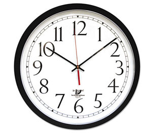 """Chicago Lighthouse Industries 67400603 SelfSet Wall Clock, 16-1/2"""", Black by CHICAGO LIGHTHOUSE FOR THE BLIND"""