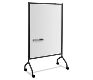 Safco Products 8511BL Impromptu Magnetic Whiteboard Collaboration Screen, 42w x 21 1/2d x 72h, Black by SAFCO PRODUCTS