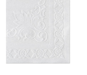 Hoffmaster Group, Inc HFM 601SE1014 Classic Embossed Straight Edge Placemats, 10 x 14, White, 1000/Carton by HOFFMASTER