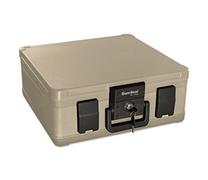 FireKing Security Group SS103 Fire and Waterproof Chest, 0.27 ft3, 15-9/10w x 12-2/5d x 6-1/2h, Taupe by FIRE KING INTERNATIONAL