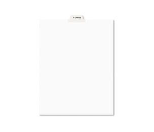 Avery 11947 Avery-Style Preprinted Legal Bottom Tab Divider, Exhibit H, Letter, White, 25/PK by AVERY-DENNISON