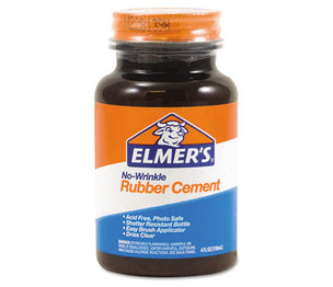 HUNT MFG. E904 Rubber Cement, Repositionable, 4 oz by ELMER'S PRODUCTS, INC.