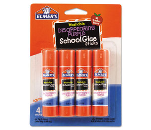 HUNT MFG. E543 Washable School Glue Sticks, Disappearing Purple, 4/Pack by HUNT MFG.