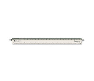 "Chartpak, Inc 238 Adjustable Triangular Scale Aluminum Architects Ruler, 12"", Silver by CHARTPAK/PICKETT"