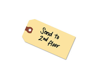 Avery 12301 Shipping Tags, 2 3/4 x 1 3/8, Manila, 1,000/Box by AVERY-DENNISON