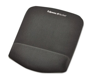 Fellowes, Inc FEL9252201 PlushTouch Mouse Pad with Wrist Rest, Foam, Graphite, 7 1/4 x 9-3/8 by FELLOWES MFG. CO.