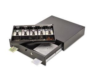 MMF INDUSTRIES 225106001 Alarm Alert Steel Cash Drawer w/key/Push-Button Release Lock, Black by MMF INDUSTRIES