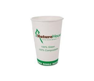 Savannah Corp NAH-C010 Compostable Live-Green Art Hot Cups, 10oz, White, 50/Pack by SAVANNAH SUPPLIES INC.
