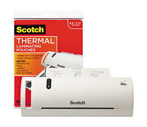 "3M TL902VP Thermal Laminator Value Pack, 9"" W, with 20 Letter Size Pouches by 3M/COMMERCIAL TAPE DIV."