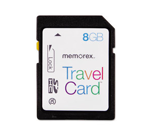 MEMOREX 32-0200-2958-6 SDHC TravelCard, Class 10, 8GB by MEMOREX