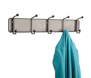 Safco Products 6403BL Onyx Mesh Wall Racks, 5 Hook, Steel by SAFCO PRODUCTS