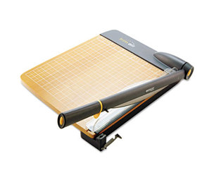 """ACME UNITED CORPORATION 15106 TrimAir Titanium Guillotine Paper Trimmer, Wood Base, 12"""" by ACME UNITED CORPORATION"""
