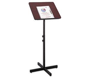 Safco Products 8921MH Adjustable Speaker Stand, 21w x 21d x 29-1/2h to 46h, Mahogany/Black by SAFCO PRODUCTS