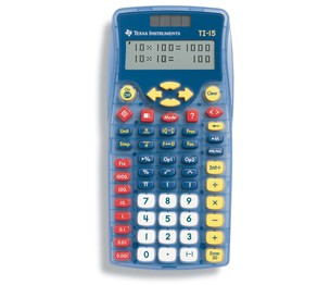 TI-15 Explorer Calculator with Fraction Capabilities