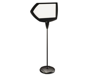 """Bi-silque S.A SIG01010101 Floor Stand Sign Holder, Arrow, 25x17 sign, 63"""" High, Black Frame by BI-SILQUE VISUAL COMMUNICATION PRODUCTS INC"""