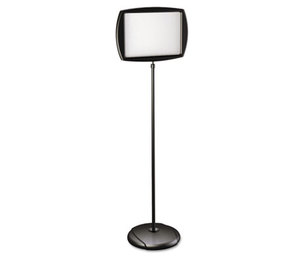 """Bi-silque S.A SIG07060101 Floor Stand Sign Holder, Rectangle, 15x11 sign, 66""""H, Black Frame by BI-SILQUE VISUAL COMMUNICATION PRODUCTS INC"""