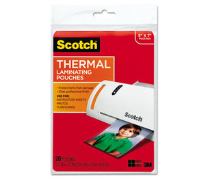 3M TP5903-20 Photo Size Thermal Laminating Pouches, 5 mil, 7 x 5, 20/Pack by 3M/COMMERCIAL TAPE DIV.