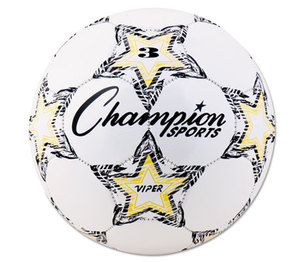 CHAMPION SPORTS VIPER3 VIPER Soccer Ball, Size 3, White by CHAMPION SPORT