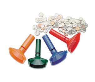 MMF INDUSTRIES 224000400 Color-Coded Coin Counting Tubes f/Pennies Through Quarters by MMF INDUSTRIES