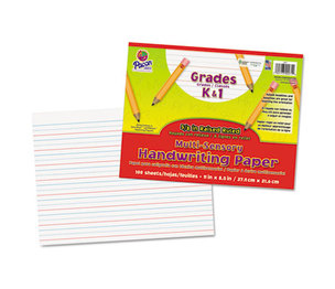 PACON CORPORATION 2471 Multi-Sensory Raised Ruled Paper, 8-1/2 x 11, White, 100 Sheets/Pad by PACON CORPORATION