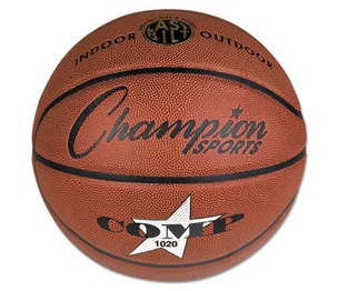 "CHAMPION SPORTS SB1020 Composite Basketball, Official Size, 30"", Brown by CHAMPION SPORT"