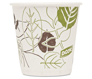 DIXIE FOOD SERVICE 45WS Pathways Wax Treated Paper Cold Cups, 3oz, 1200/Carton by DIXIE FOOD SERVICE