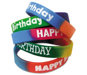TEACHER CREATED RESOURCES TCR6571 Two-Toned Happy Birthday Wristbands, Assorted Colors, 10/Pack by TEACHER CREATED RESOURCES