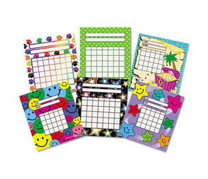 TEACHER CREATED RESOURCES 9028 Individual Incentive Charts, 5-1/4 x 6, 6 Designs, 36/Each, 216/Pack by TEACHER CREATED RESOURCES
