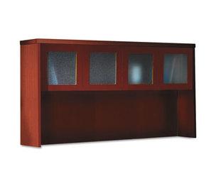 Mayline Group AHG72LCR Aberdeen Series Laminate Glass Door Hutch, 72w x 15d x 39-1/4h, Cherry by MAYLINE COMPANY